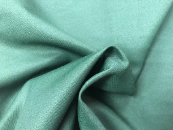 118-4357 Ткань хлопок сатин однотонный 80%хлопок 20%полиэстер 150см цв.т.зеленый(в рул.104,2м)