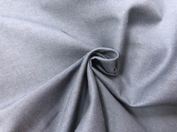 118-4356 Ткань хлопок сатин однотонный 80%хлопок 20%полиэстер 150см цв.т.синий(в рул.109,8)