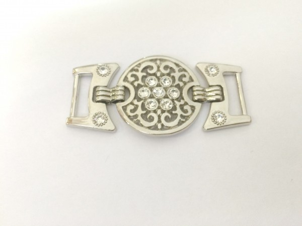 2322TMR Пряжка декоративная цв.никель(в упак.100шт)