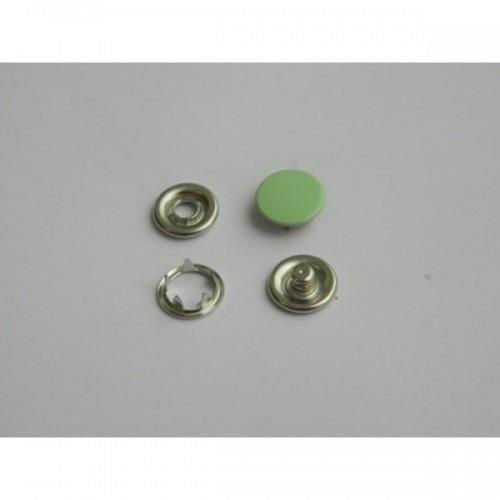 246 Кнопка нержавеющая трикотажная закрытая 09,5мм цв.зеленый(в упак.1440шт)