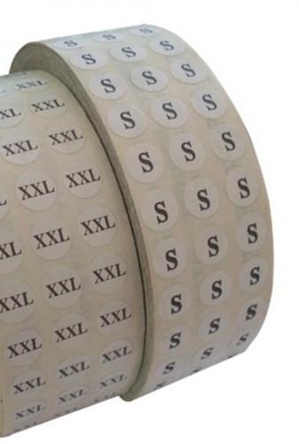 38 Размерники на самоклеящейся бумаге цв.белый(в рул.5000шт)