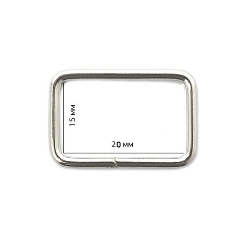 Рамка 3*15*20мм цв.никель(в упак.1000шт)