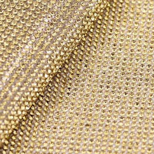 Стразы в рулоне SS10 3мм Gold 45*120см