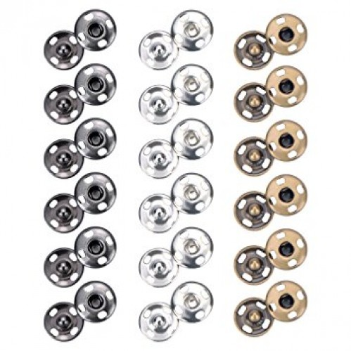 Кнопка пришивная нержавеющая 12мм цв.никель(в упак.1000шт)