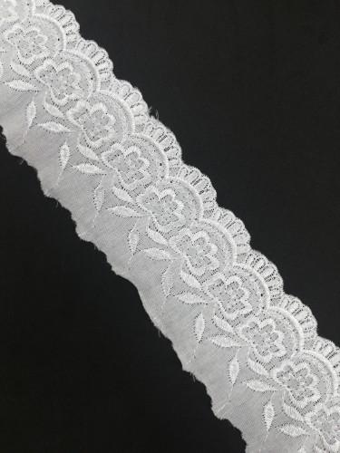 840F Шитье шир.6,5см цв.кремовый(в упак.13,7м)