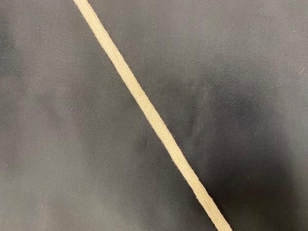 Шнур хлопковый плоский 08мм цв.сырой(в рул.100м)