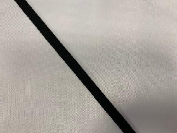 Шнур хлопковый плоский 10мм цв.черный(в рул.100м)