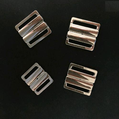 Бельевая застежка для купальника металлическая 15мм цв.никель(в упак.1000шт)