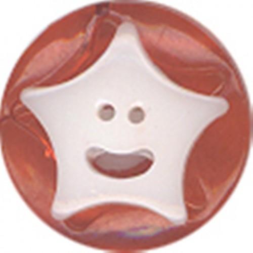 №2 Пуговица детская (звездочки) №20 12,5мм цв.оранжевый 009(в упак.100шт)