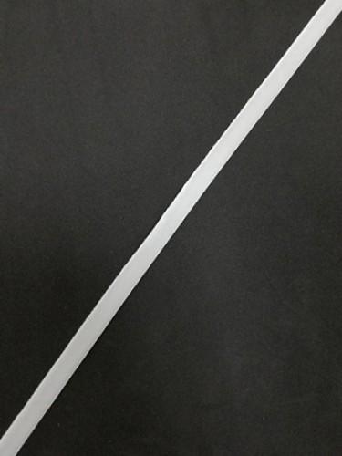 Бархатная лента эластичная 07мм цв.белый(в рул.200м)