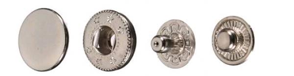 Кнопка нержавеющая Alfa 15мм цв.ч.никель(в упак.720шт)