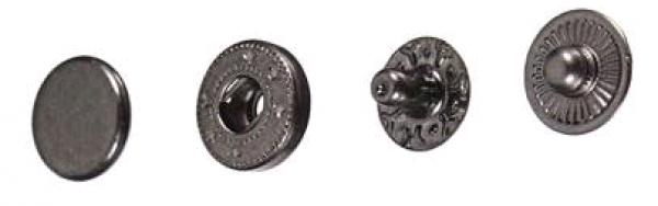 Кнопка стальная VT-2 9,5мм цв.оксид(в упак.1440шт)