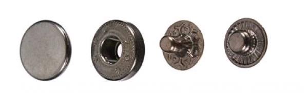 Кнопка нержавеющая №54 12,5мм цв.оксид(в упак.1000шт)