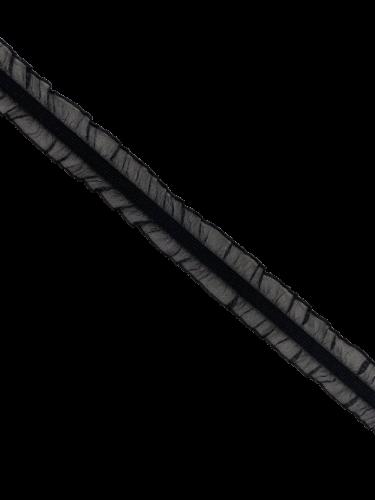 0250KPO Бельевая резинка с двухсторонним рюшем 22мм цв.черный(в рул.100м)
