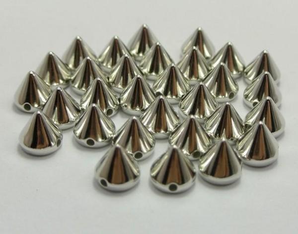 №18 Шипы пластиковые пришивные 11мм цв.никель(в упак.5000шт)