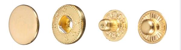 Кнопка стальная №54 12,5мм цв.золото(в упак.1440шт)