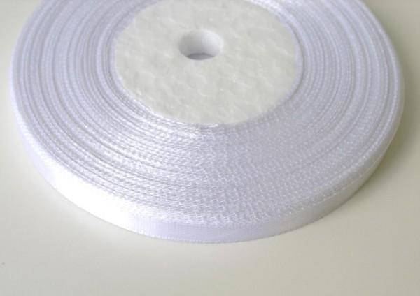 101 Атласная лента 6мм цв.белый(в рул.33м)