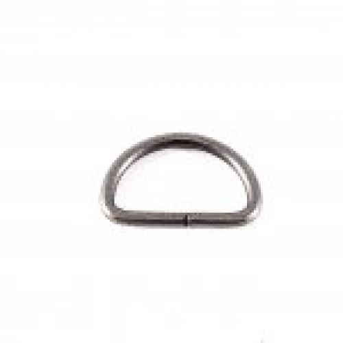 Полукольцо 2,5*25мм ч.никель(в упак.1000шт)