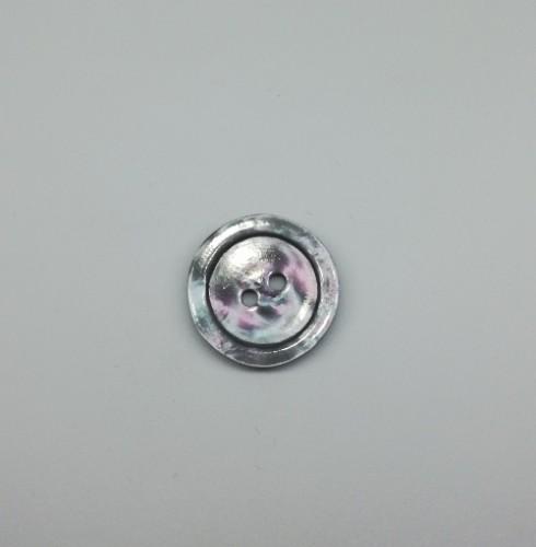 1288(9/1288) Пуговица №24 15мм цв.серый(в упак.2000шт в кор.№331)