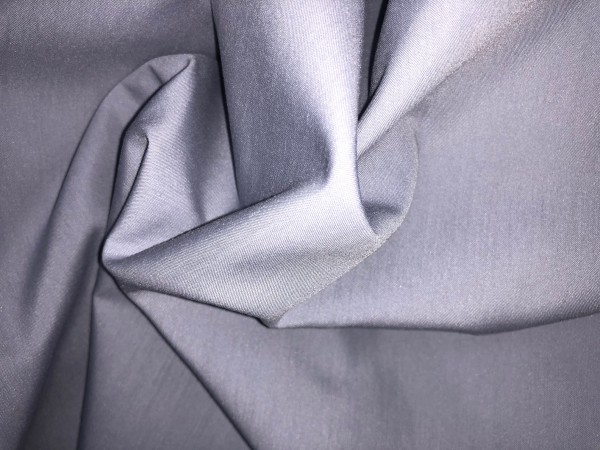 115-1874 Ткань хлопок дакрон однотонный 60%хлопок 40%полиэстер 150см цв.т.серый(в рул.100м)