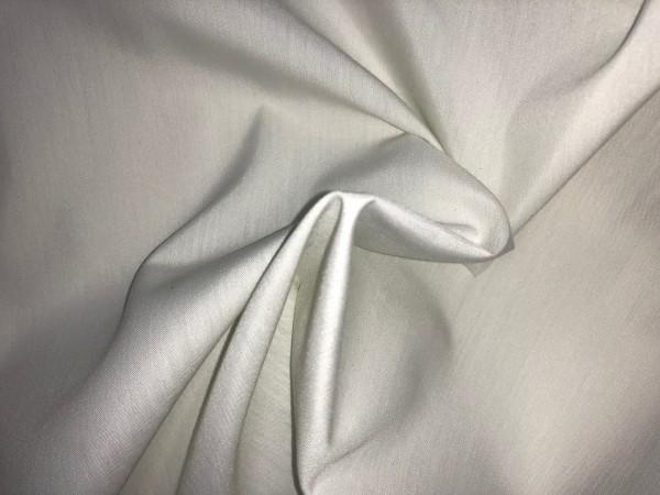 109-6345 Ткань хлопок дакрон однотонный 60%хлопок 40%полиэстер 150см цв.молочный(в рул.100м)