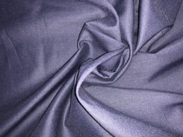 117-6367 Ткань хлопок сатин однотонный 80%хлопок 20%полиэстер 150см цв.т.синий(в рул.93,30м)