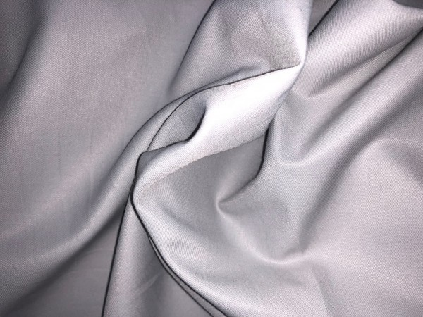 117-6337 Ткань хлопок сатин однотонный 80%хлопок 20%полиэстер 150см цв.серый(в рул.95,10м)