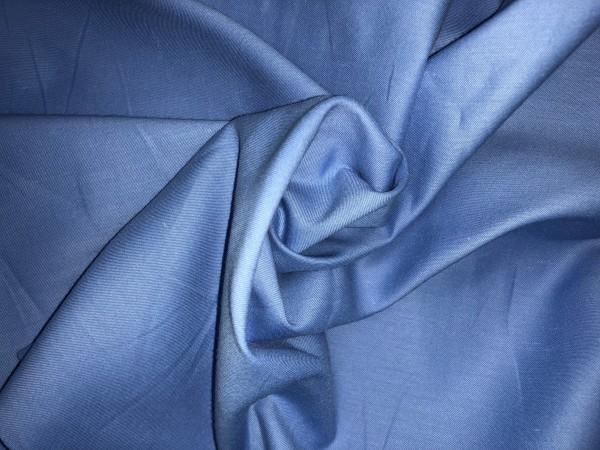 117-6173 Ткань хлопок сатин однотонный 80%хлопок 20%полиэстер 150см цв.т.голубой(в рул.111,6м)