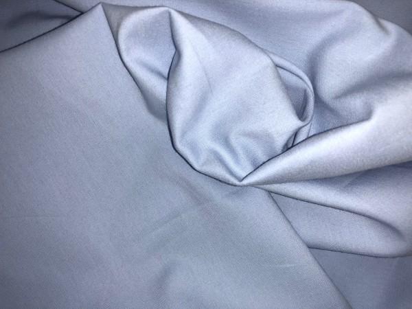 117-6232 Ткань хлопок сатин однотонный 80%хлопок 20%полиэстер 150см цв.голубой(в рул.99,7м)