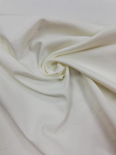 117-6171 Ткань хлопок сатин однотонный 80%хлопок 20%полиэстер 150см цв.белый(в рул.111,6м)