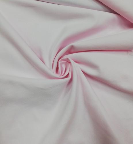 117-6275 Ткань хлопок сатин однотонный 80%хлопок 20%полиэстер 150см цв.св.розовый(в рул.110,2м)