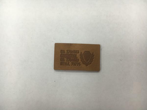 68004Y нашивка кожзам 3*1см(в упак.100шт)