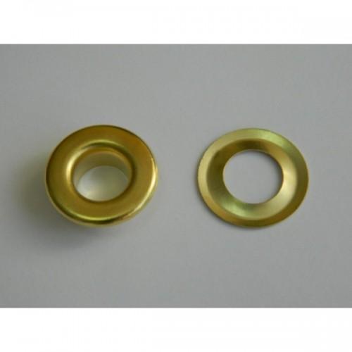 Люверсы нержавеющие №24 9мм цв.золото(в упак.1000шт)