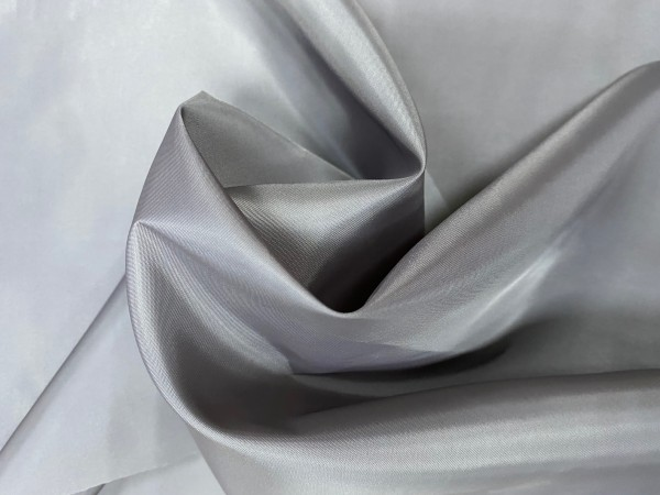 1328(18-0000) Ткань подкладочная однотонная 210Т 100%ПЭ 150см цв.т.серый(в рул.100м)