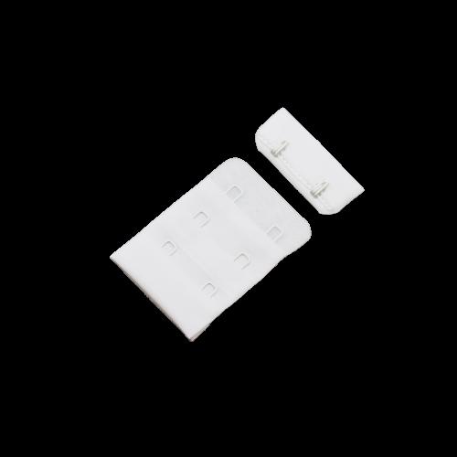 Бельевые застежки на ткани 3х2 40мм цв.белый(в упак.100шт)