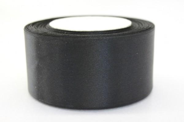 Сатиновая лента 50мм цв.черный(в рул.50м)