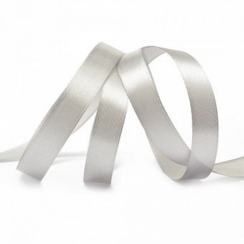 Сатиновая лента 10мм цв.белый(в рул.100м)