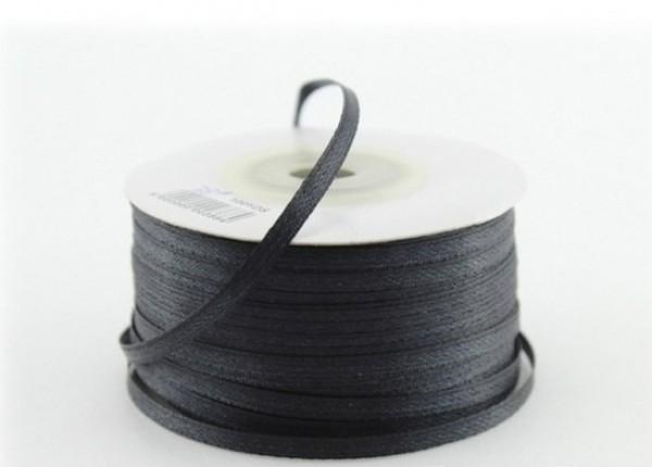 Сатиновая лента 03,5мм цв.черный(в рул.750м)