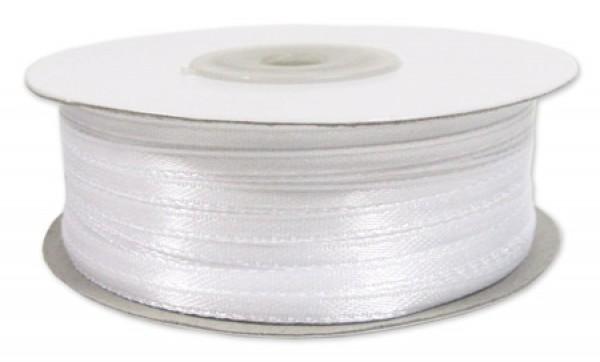 Сатиновая лента 03,5мм цв.белый(в рул.750м)