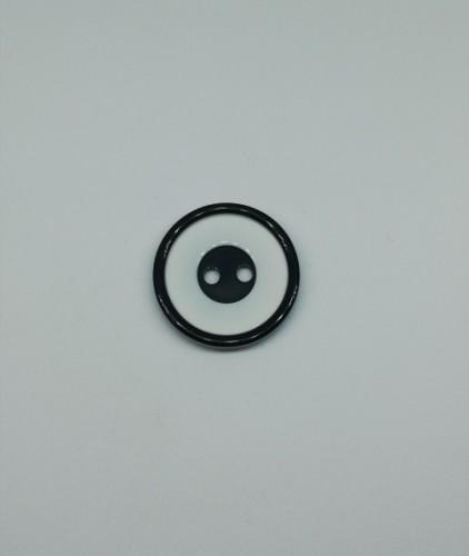 0325 FASHION Пуговица №24 15мм цв.черный(в упак.2000шт)