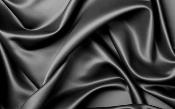 Ткань атлас 100%ПЭ 150см цв.черный(в рул.100м)