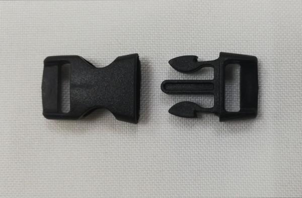 Фастекс пластиковый №9038 11мм цв.черный(в упак.100шт)
