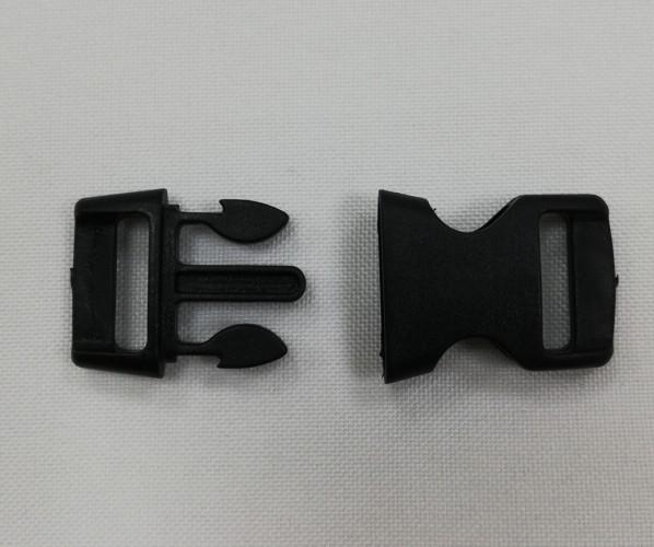 Фастекс пластиковый №9019 20мм цв.черный(в упак.100шт)