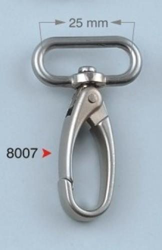 8007 Карабин  2,5см цв.никель(в упак.100шт)