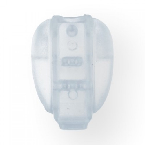 Концевик фасоль пластиковый цв.прозрачный(в упак.1000шт)
