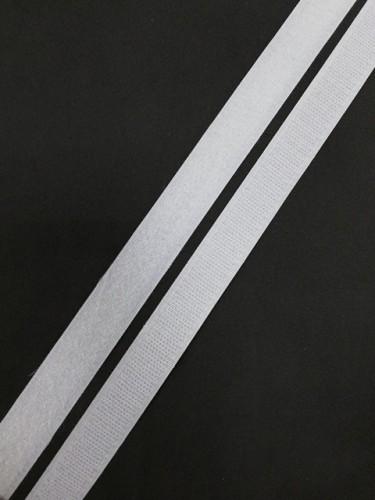 Липучка 020мм цв.белый(в рул.25м)