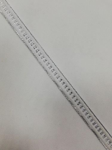 Бархатная лента декоративная №7 10мм цв.серебро(в рул.182,88)