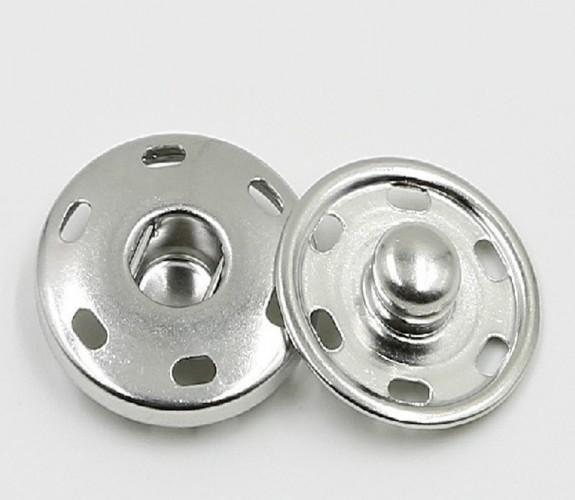 Кнопка пришивная нержавеющая 19мм цв.никель(в упак.1000шт)