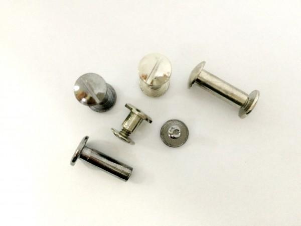 Болты для ремня металлические 05мм цв.никель