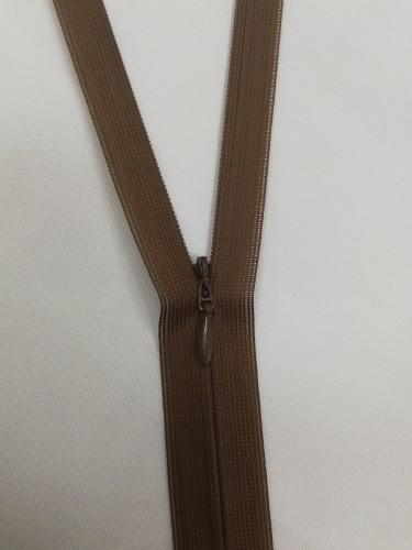 300 Молния потайная Т3 20см цв.коричневый(в упак.100шт)